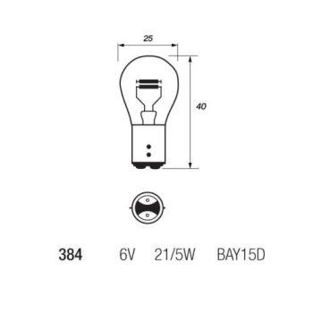 BULB, STOP / TAIL LIGHT, 6V - A100, GP125, GP100, TS100, TS125, TS185, TS250