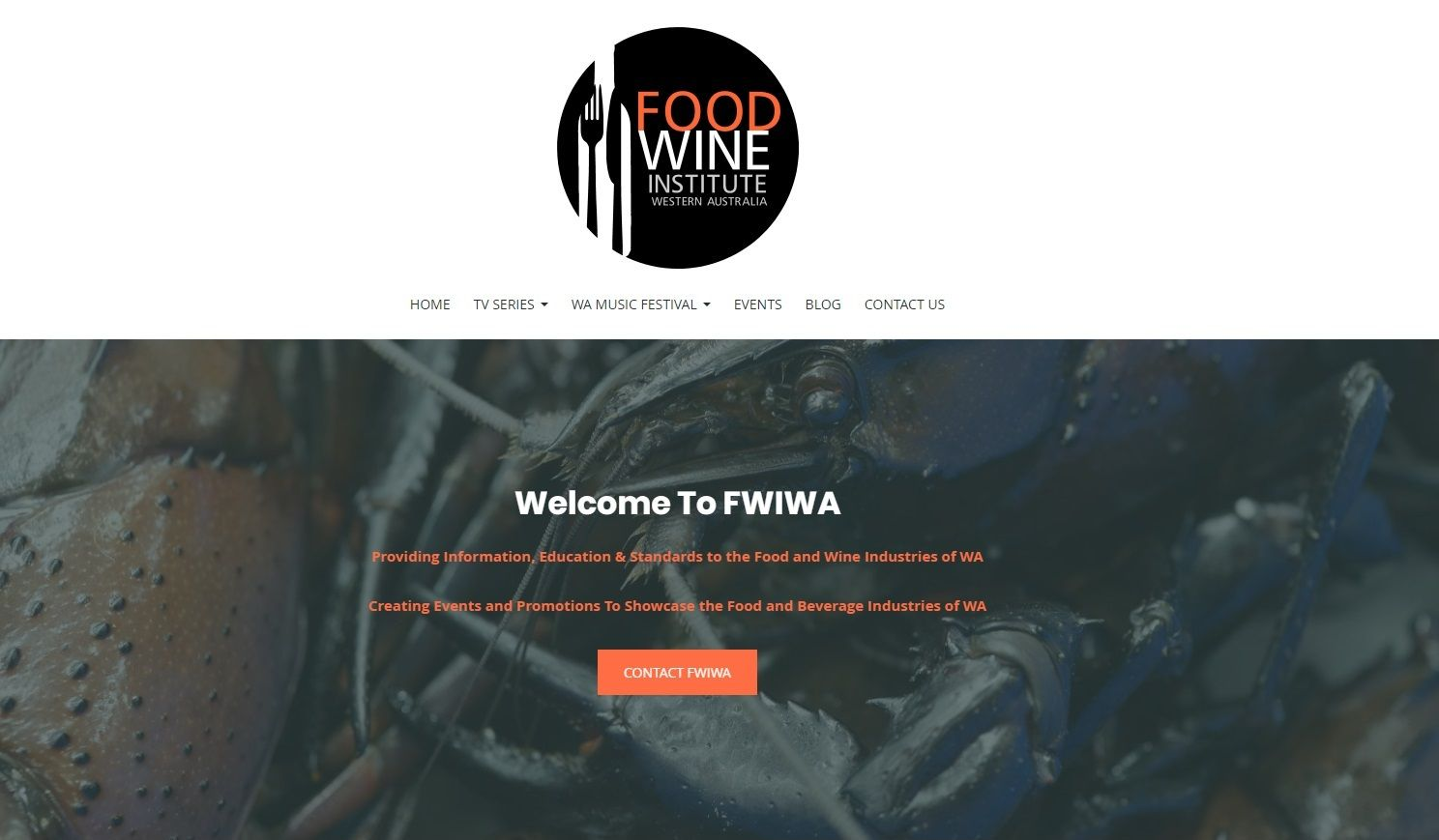 Food and Wine Website Designer Mandurah and Perth