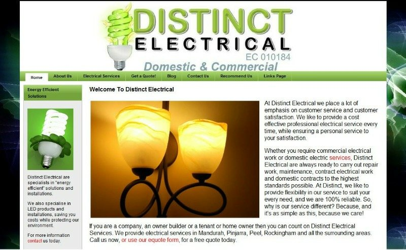 Electrical Trade Web Designer Mandurah
