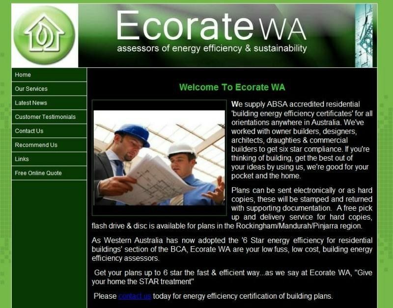 Eco Rating Website Design Mandurah