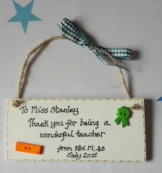 Personalised thank you teacher gift
