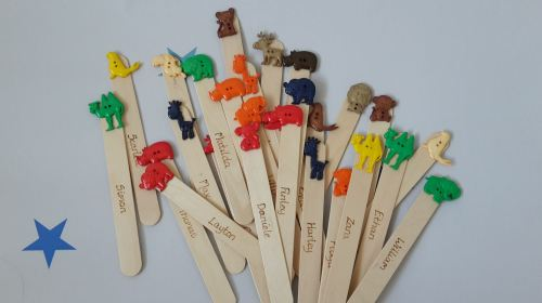 End of year pupil gifts: Personalised bookmarks  (animal theme)