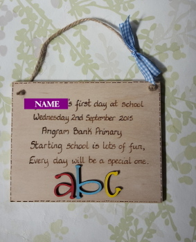 First day of school gift keepsake