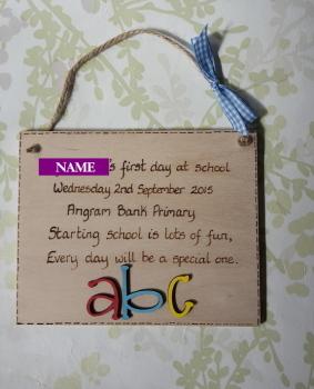 First day of school gift keepsake