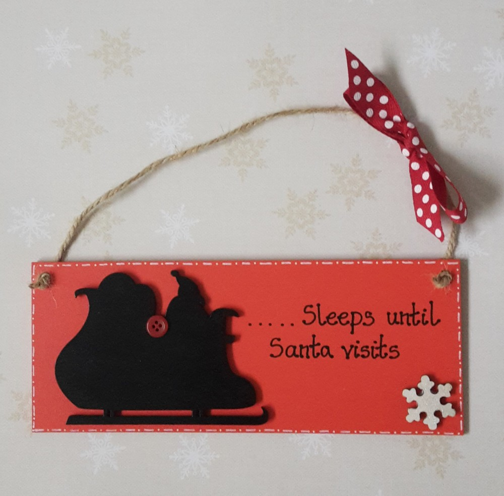<!-- 001 -->Countdown to Christmas Plaque
