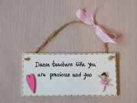 <!-- 005 -->Dance, ballet, gymnastics teacher plaque gift