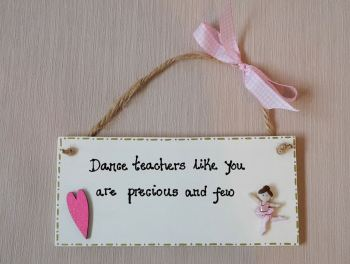 Dance, ballet, gymnastics teacher plaque gift