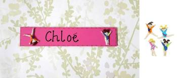 Gymnastics or Ballet themed children's door plaque