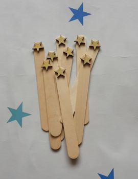 End of year pupil gifts: Personalised bookmarks  (stars)
