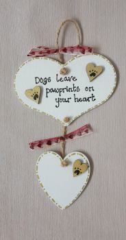 Personalised Dogs leave paw prints on your heart, In memory
