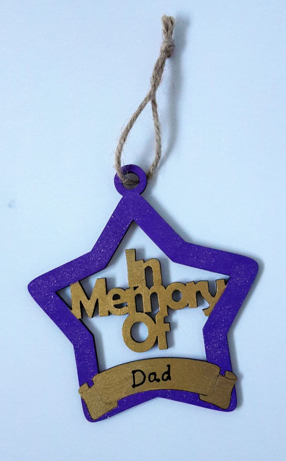 <!-- 002 -->In Memory Personalised Christmas Decoration