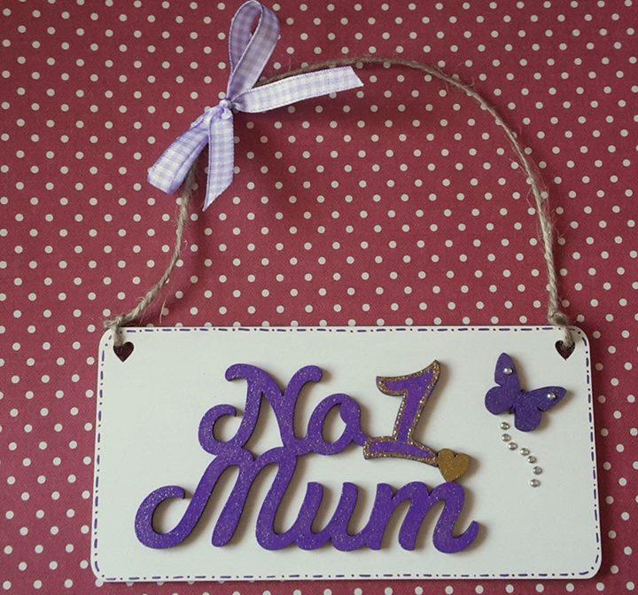 No 1 Mum plaque