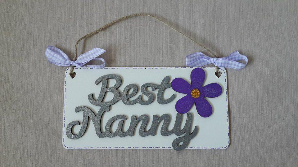 Best Nanny - silver/purple
