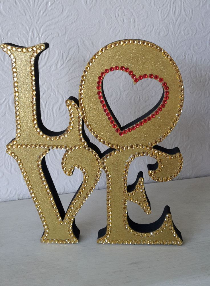 Freestanding Love Sign - gold