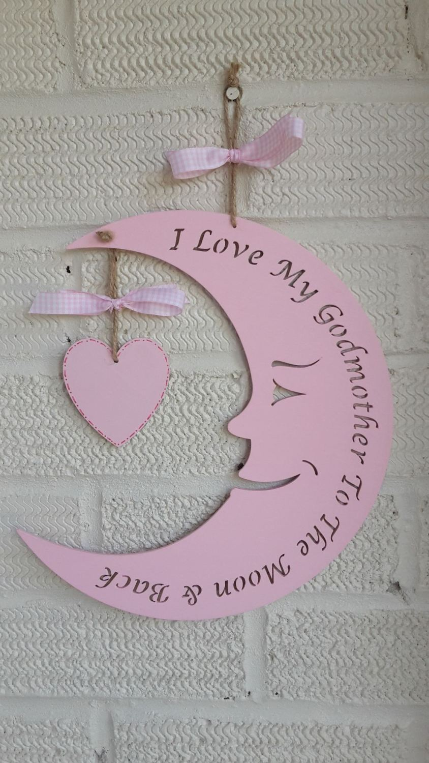 I love my Godmother to the moon and back personalised plaque