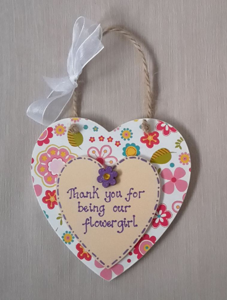 <!-- 0006 -->Flower girl thank you plaque