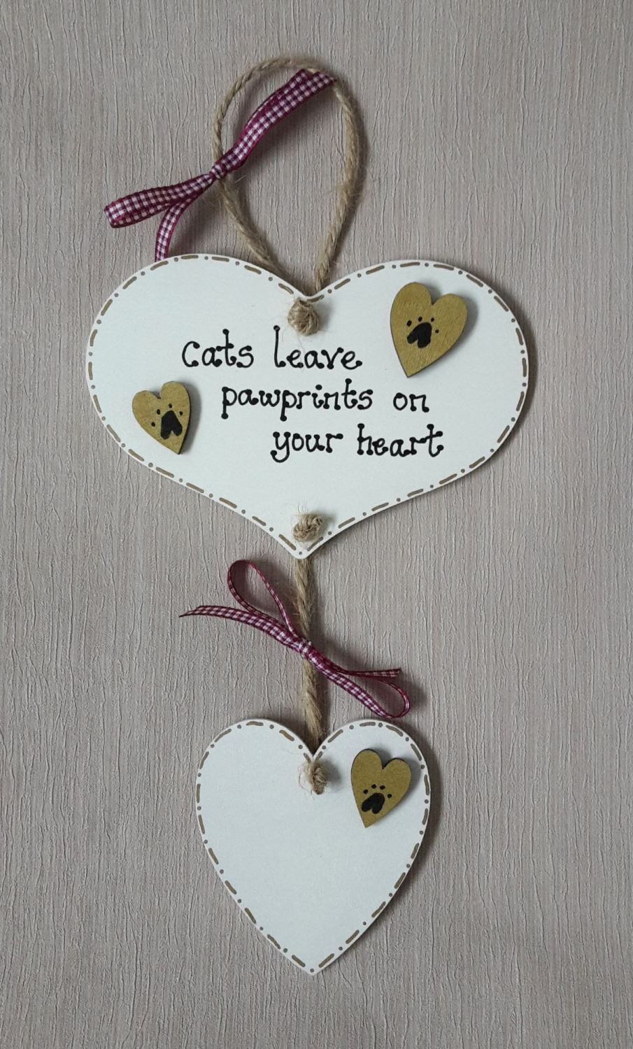 <!-- 001 -->Personalised cats leave paw prints on your heart, In memory