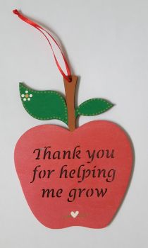 Personalised apple childminder thank you gift