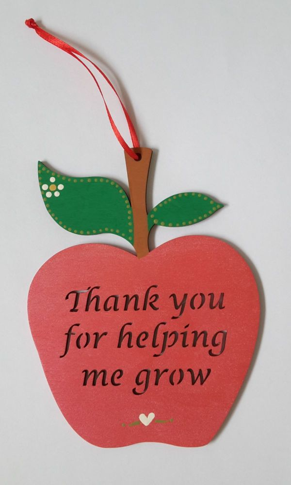 <!-- 002 --> Personalised apple childminder thank you gift