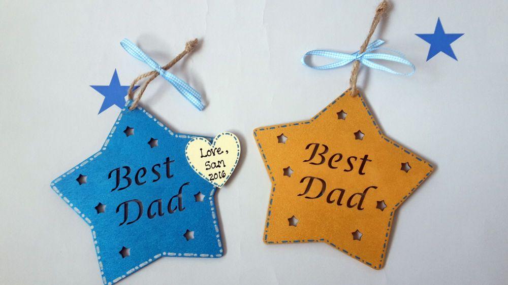 Best dad star plaque