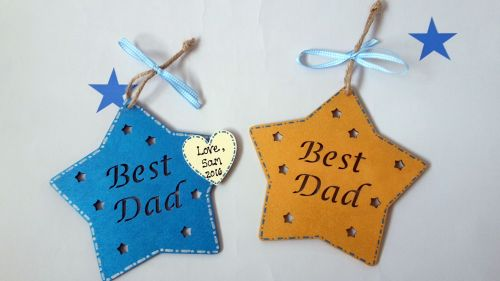Best dad star plaque