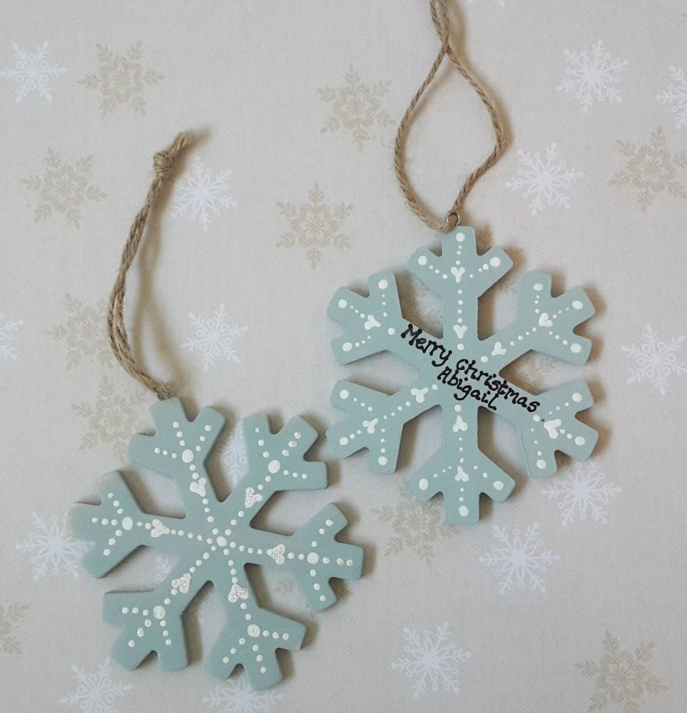 <!-- 00001 -->Personalised snowflake decoration