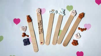 Personalised wedding themed bookmarks favours