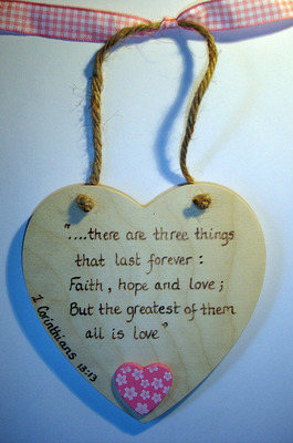 Corinthians Wedding Keepsake Plaque