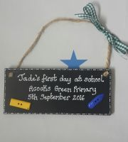Blackboard style First day of school gift keepsake