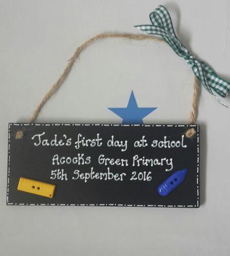 Blackboard style First day of school gift keepsake