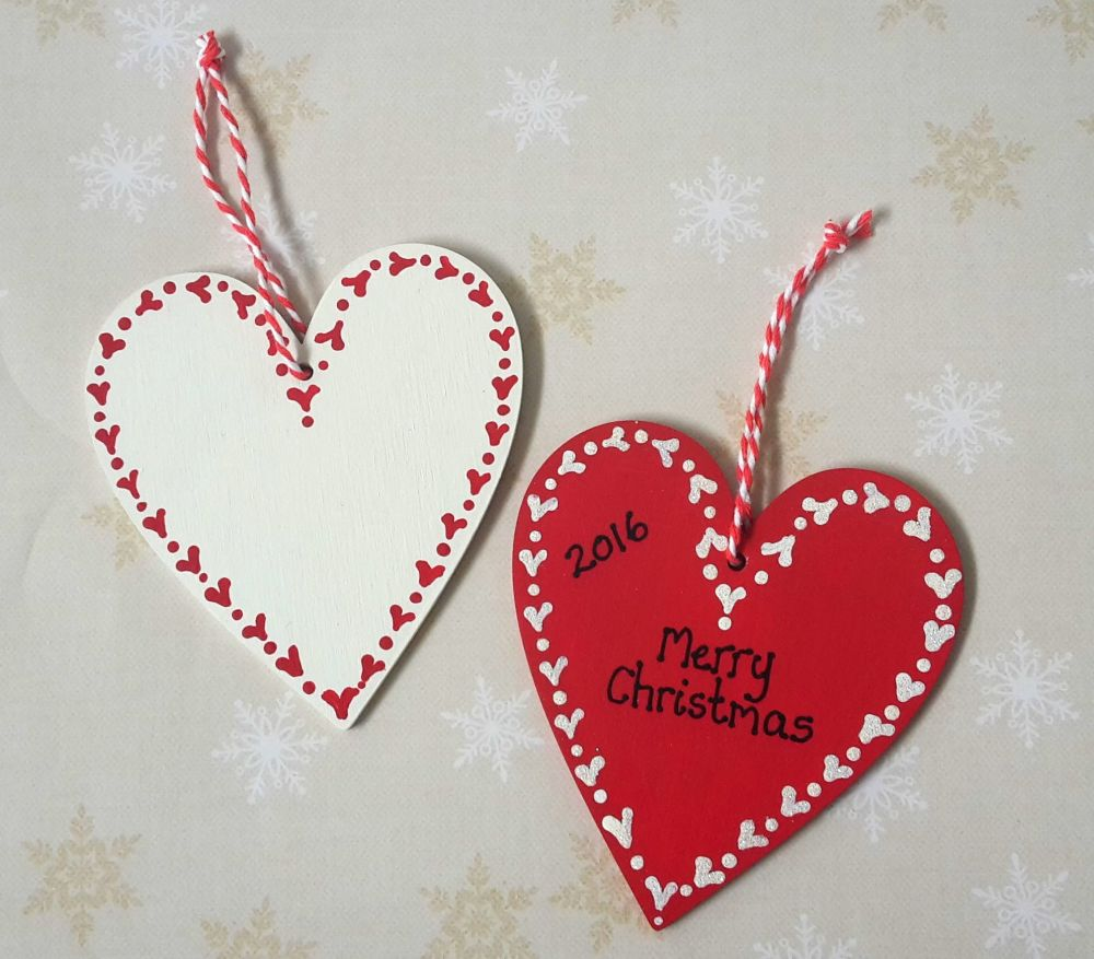 Christmas Heart.Personalised Christmas Heart Decoration