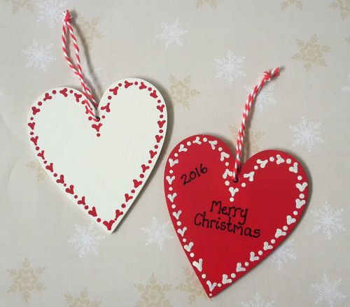<!-- 0002 -->Personalised Christmas Heart Decoration
