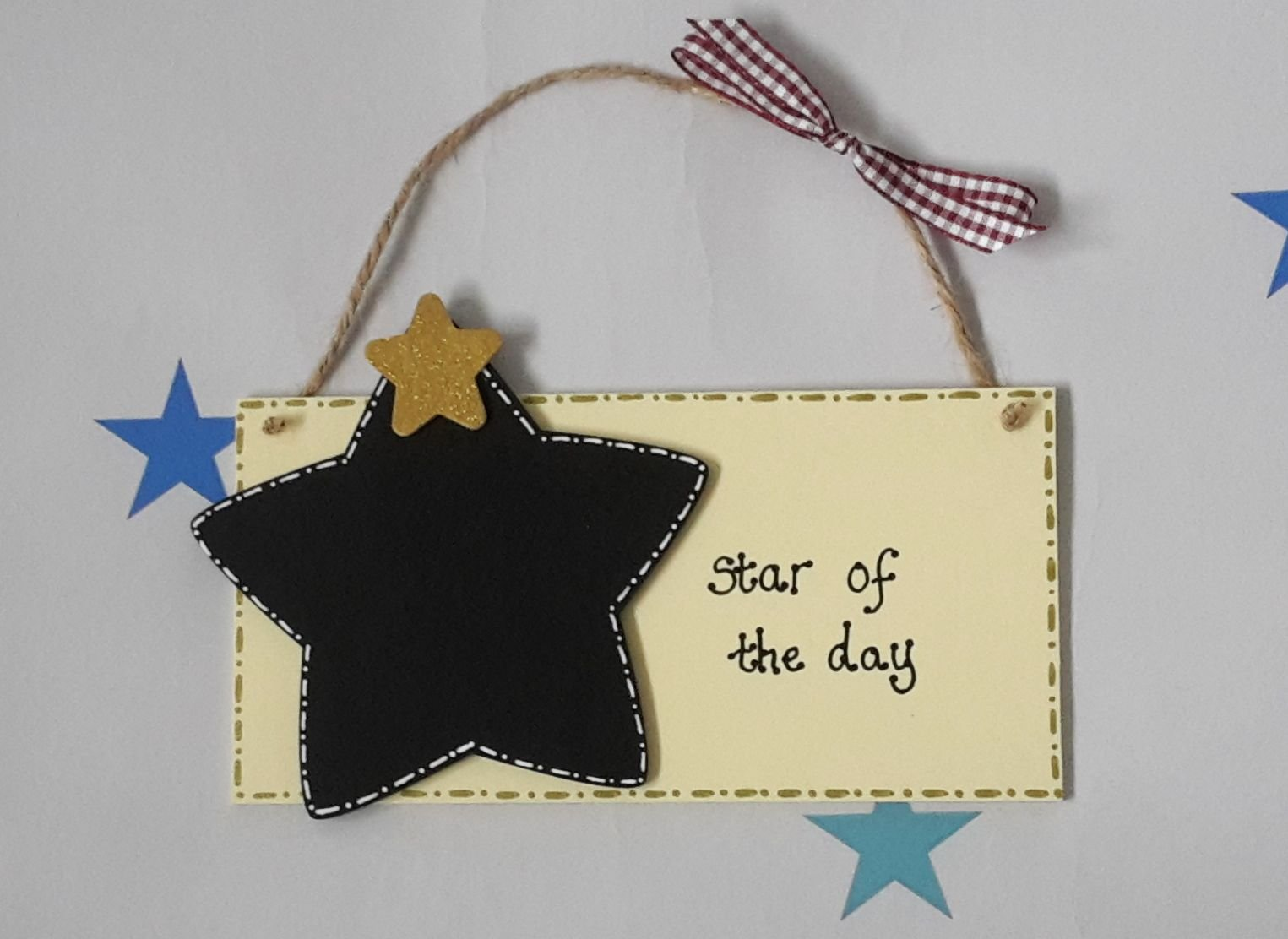 "Classroom ""Star of the day"" plaque"