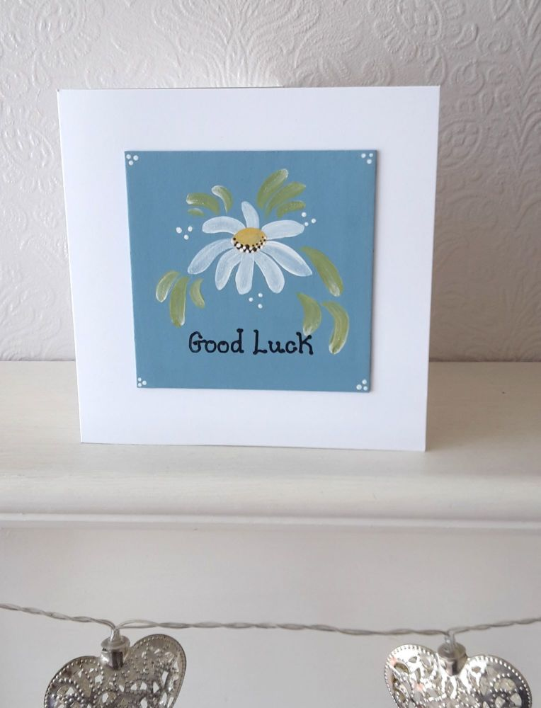 Handpainted Daisy card