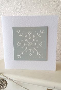 Handpainted christmas card - snowflake