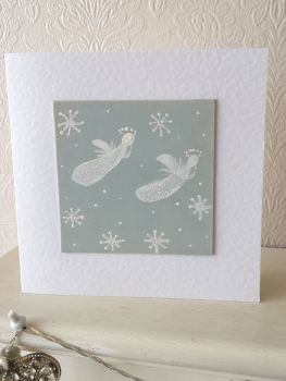 Handpainted christmas card - Angel