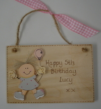 Personalised Children's Birthday Plaque