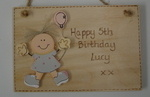 Personalised Children's Birthday Plaque