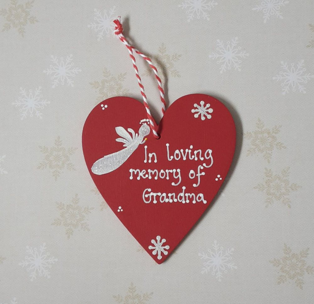 <!-- 002 -->In Memory heart Personalised Christmas Decoration