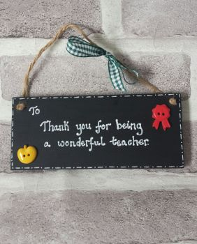 Personalised blackboard thank you teacher gift