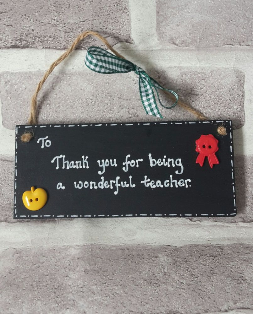 <!-- 002 -->Personalised blackboard thank you teacher gift
