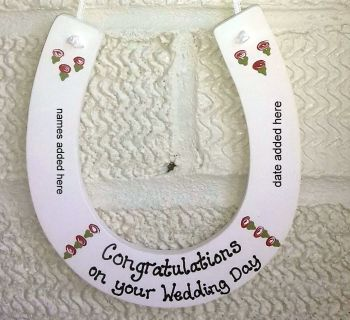 Personalised painted Wedding Horseshoe Keepsake
