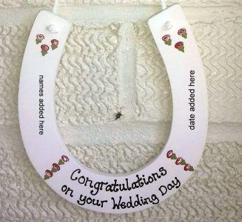 Personalised painted Wedding Horseshoe Keepsake