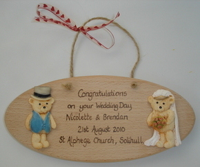 Personalised Wedding Keepsake Plaque