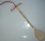 """Granny's kitchen - tasters welcome"" wooden spoon"