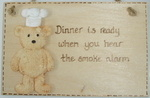 Humour Plaque - dinner & smoke alarm