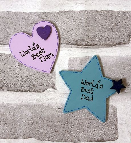 Personalised Star or Heart Magnets