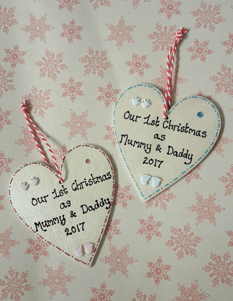 <!-- 00002 -->Personalised 1st Christmas as Mummy and Daddy