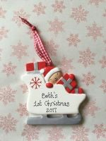 <!-- 000002 -->Baby's First Christmas - Sleigh decoration
