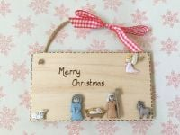<!-- 00001 -->Personalised Christmas Nativity Plaque